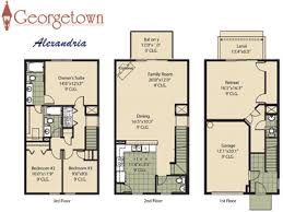 3 story house plans georgetown townhome community in jacksonville florida