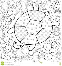 turtle heaven coloring book page turtle in clover garden