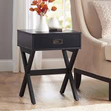 pair of modern black bedside tables burgess chest bed drawers aud