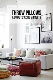 Accent Pillows For Sofa Throw Pillows A Guide To Sizing U0026 Inserts Francois Et Moi