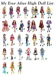 all after high dolls my after high doll list by souris rune on deviantart