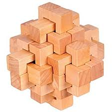 wooden puzzle kingou wooden puzzle 24 pcs interlocking brain teasers