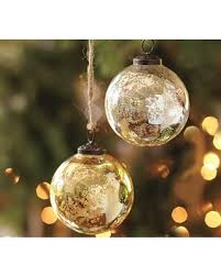 deal alert silver gold mercury glass ornaments set of 6