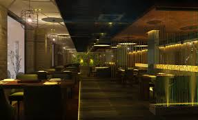 chinese restaurant lighting night view interior design