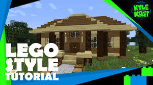 minecraft lego style tutorial 20x20 contemporary house youtube