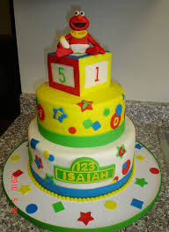 elmo theme 3 tier baby shower cake jpg