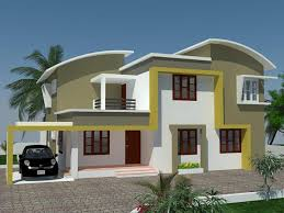 Contemporary Home Exterior by Home Colour Design Cool Kerala Exterior Painting Kerala Home Home