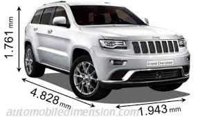 jeep compass length dimensions of jeep cars showing length width and height