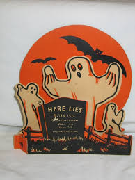 ghosts bats tombstone 1940 u0027s halloween pinterest decoration