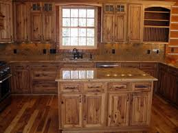 rustic kitchen cabinet ideas charming kitchen rustic hickory cabinets solid wood furniture ideas