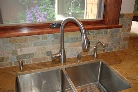 fresh modern one piece kitchen sink and backsplash 681