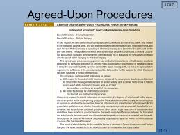 agreed upon procedures report template assurance attestation and auditing services ppt