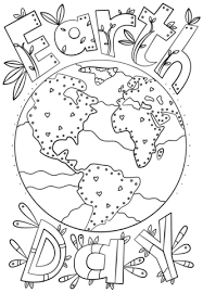 earth doodle coloring free printable coloring pages