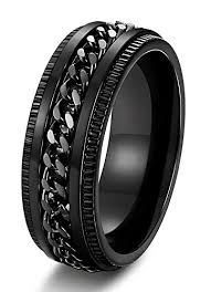 titanium chain rings images Fibo steel stainless steel 8mm rings for men chain rings biker jpg