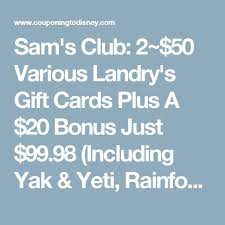landry s gift cards best 25 rainforest cafe coupons ideas on disney 2015