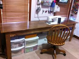 Diy Sewing Desk There S Lots Of Room To Center Your Chair In Front Of The Needle