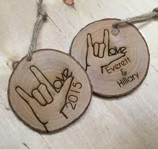 sign language ornament i you personalized
