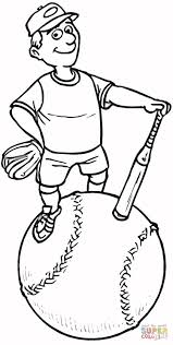 softball coloring page coloring home