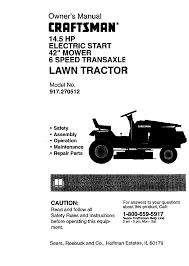 craftsman lawn mower 917 270512 user guide manualsonline com