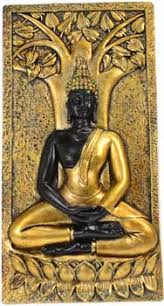 buddha with bodhi tree wall plaque 9 the white clover shop