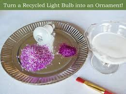 craft recycled light bulbs into ornaments unique