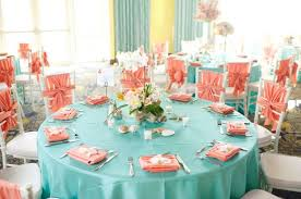 wedding table decor teal and coral wedding table decor the wedding wedding