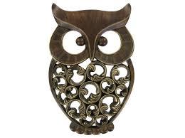Owl Wall Decor by Antique Gold Owl Wall Decor Shop Hob Lob Owl Metal