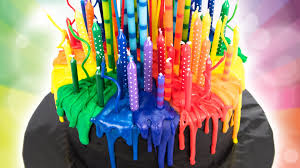 cool birthday candles melting candle rainbow cake birthday cake from cookies cupcakes