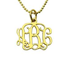 monogrammed necklace cheap 50 monogram necklace small 10k 14k solid gold monogram jewelry