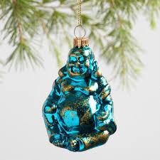 glass happy buddha ornaments set of 3 world market