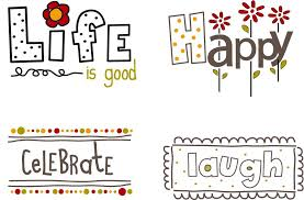 happy words labels