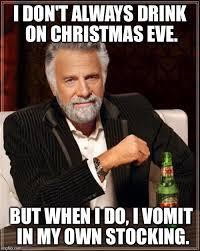 Stocking Meme - puking in the christmas stocking imgflip