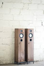 modern speakers walnut speakers 2 way furniture style hi fi modern