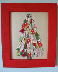 rag rescue vintage fabric christmas tree cards