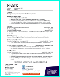 Critical Care Nurse Job Description Resume by Impress The Employer With Great Certified Nursing Assistant Resume