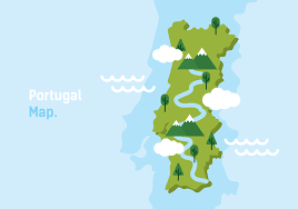 map vector portugal map vector illustration free vector stock
