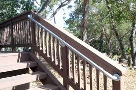 exterior wooden stair railing designs building outside stair
