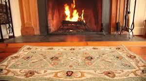 Rugs For Fireplace Hearths Hand Tufted Fire Resistant Scalloped Wool Mclean Hearth Rug Sku