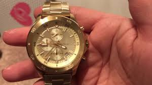 gold tone stainless steel bracelet images Michael kors mens conogragh walsh gold tone stainless steel jpg