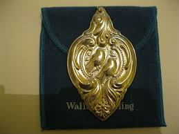 1989 wallace grand baroque sterling christmas ornament from midas
