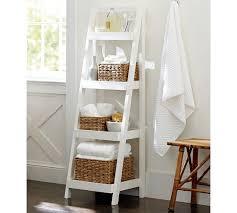 Bathroom Ladder Shelves Floor Standing Ladder Pottery Barn