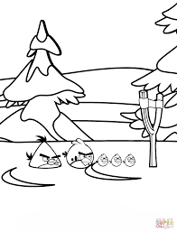 angry birds winter battles coloring page free printable coloring