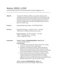 Social Work Resume Samples free federal resume sample from resume prime