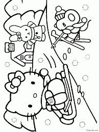 cool drawlings kitty drawing coloring kids