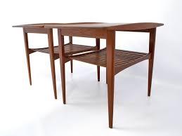 pair of danish mid century kindt larsen teak end tables for france