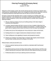 service proposal template cleaning services proposal sample