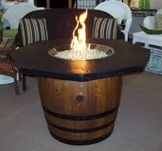 wine barrel fire table rocky mountain springs company concrete firepits fire tables