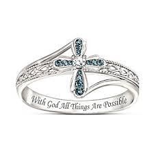 grace engagement ring heavenly grace blue cross ring