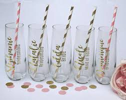 wedding shower thank you gifts personalized stemless plastic chagne flute bridal
