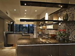 open cabinet kitchen hanging shelves vertical open shelves suspended ceiling add sleek